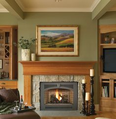 The inviting warmth and crackling flames in a fireplace naturally draw people to gather around the hearth. Create that feeling with our Paramount mantel from JC Huffman Mantels. Shown in Mahogany wood and Gunstock finish, it's the mantel you have been looking for.