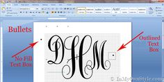 Make your own Monogram using Microsoft Word