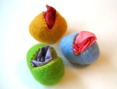 Felted Wool Egg and Playsilk Toys Waldorf SET  Eco by SewnNatural. , via Etsy.