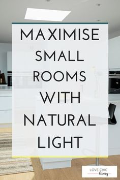 Natural lighting ideas for small rooms and lighting ideas for small apartments. The best tips and lighting ideas for very small apartments, and our favourite home lighting ideas.