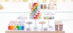 The TomKat Studio: Kate's Rainbow Heart Party :: New Party Collection