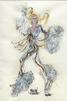 Costume sketch for Meryl Streep in Mamma Mia- by Ann Roth