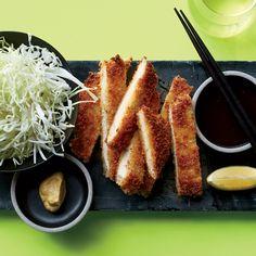 Pork Tonkatsu - This supersimple, crispy pork from Chef Andrew Zimmern gets addictive heat from the spicy Japanese mustard served on the side. http://www.foodandwine.com/recipes/pork-tonkatsu?xid=NL_DAILY052416PorkTonkatsu