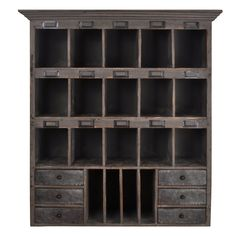 Amazon.com : Distressed Wood Cabinet with Cubbies & Drawers (Shabby Gray) : Office Products~not available right now, but keeping for possibly making something similar myself.