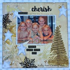 A Layout by Kelly-ann Oosterbeek, made with the Glisten collection from Kaisercraft. www.kellyanno.com