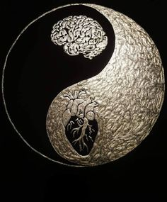 A creative way of of portraying the ying-yang symbol A creative way of of portraying the ying-yang symbol<br> More memes, funny videos and pics on Arte Yin Yang, Ying Y Yang, Yin Yang Art, Ying Yang Tatuaje, Tatuajes Yin Yang, Yin Yang Tattoos, Brain And Heart, Heart And Mind, Symbole Ying Yang