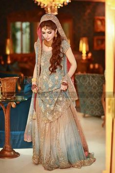 OH THIS IS BEAUTIFUL! #Lehenga, #MuslimWedding, www.PerfectMuslimWedding.com