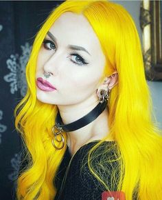 Preferred Human Hair Yellow Firefly Color Straight Lace Front Wigs for Women Love Hair, Great Hair, Amazing Hair, Neon Hair, Straight Lace Front Wigs, Beautiful Hair Color, Yellow Hair, Coloured Hair, Dye My Hair