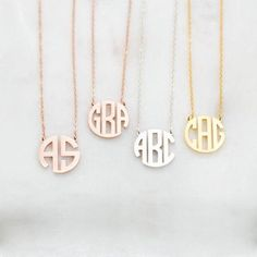 19e63155ca38 Silver Color Block Monogram Custom Name Necklace For Women Personalized  Jewelry Stainless Steel Wedding Initials Bijoux