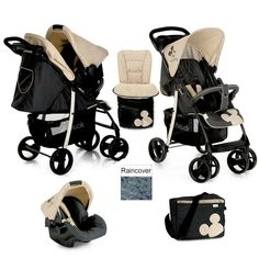 Hauck Disney Mickey Charcoal Shopper SLX Pushchair Travel System shop n drive+AC  | eBay