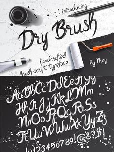 Get this font in Script bundle with other amazing fonts: - --- Hi, friends! Introducing new handcrafted typeface - Dry Brush. It is a brush pen script font with Script Typeface, Typography Fonts, Brush Script, Brush Lettering, Font Generator, Short Words, Uppercase And Lowercase, Graphic Design Projects, Dry Brushing