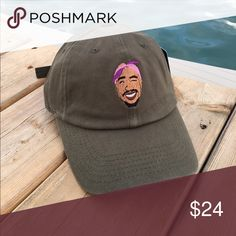 Tupac Shakur Dad Hat Strapback Caps 100% cotton high quality caps  Tupac cap  Color: Olive  - Shipped Via USPS 3-4 Days with Tracking.  *Please verify your shipping address is Correct. I am not responsible for such problems.   Embroidered & Usually shipped same or next day. If you order on a Friday, it will not ship until the following Monday. ALL BUSINESS IS TAKEN SERIOUSLY!   *IF YOU WOULD LIKE TO REQUEST A HAT TO BE IN A CERTAIN COLOR PLS SPECIFY IN THE PRIVATE MESSAGES.  *We Appreciate…