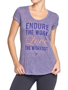 Old Navy | Women's Active by Old Navy Heathered-Graphic Tees