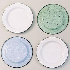Porcelain Enamel Dinnerware Comes to Barn Light Electric! | Barn Light Electric Blog