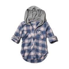 hooded button-down shirt from Abercrombie Kids. Saved to Abercrombie. Shop more products from Abercrombie Kids on Wanelo. Button Downs, Button Down Shirt, All American Clothing, Abercrombie Kids, Shirts For Girls, I Shop, Hoods, To My Daughter, Kids Outfits
