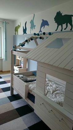 Lifetime Silversparkle Boy Toddler Bedroom, Boys Bedroom Decor, Boy Room, Child Room, California Closets, Full Size Bunk Beds, Bedroom Design Inspiration, One Bed, Cool Rooms