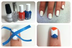 easy 4th of july nails (cute in any colors!)
