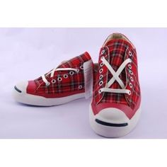 Converse Jack Purcell Red Plaid 002