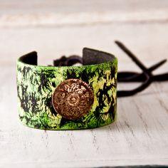 Vintage Leather Bracelet. Available at http://www.rainwheel.etsy.com $30 #handmade #bohemian #gypsy