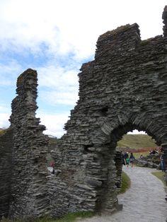 Gate of the Island Courtyard on Tintagel Island, Tintagel Castle, Cornwall. (Photo: WendyJames ~ August 2015)