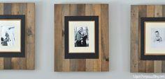 DIY Rustic Picture Frame Tutorial