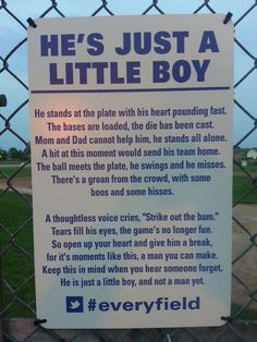 The Most Important Rule of Little League – #everyfield