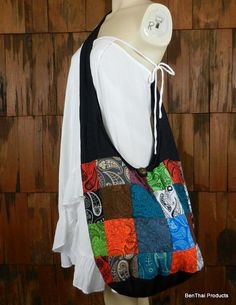 Patchwork Sling Cross Body Bag Purse Hippie by BenThaiProducts, $15.99