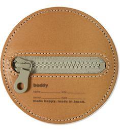 Tan/Grey Zip Flying Disc 100mm Case