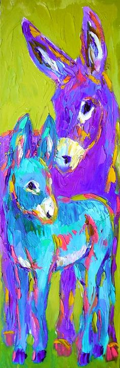 Winter and Spring - oil by ©Barbara Meikle www.horseart.us/barbara/burros/winterandspring.php