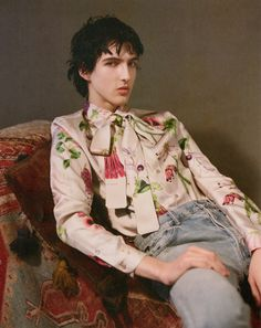 Read about the creative director and stylist's exclusive collection of silk printed shirts, and his most personal project to date. Plus, shop the collection. Primal Scream, Craig Green, Glasgow School Of Art, Dazed And Confused, Mens Trends, Central Saint Martins, Kate Moss, Creative Director, Graphic Prints