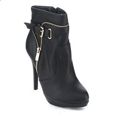 Spirit Moda Women's Fashion Stiletto Heel Platform Ankle Booties ** Check out the image by visiting the link. (This is an affiliate link and I receive a commission for the sales) Stilettos, Stiletto Heels, Women's Heels, Black Ankle Boots, Ankle Booties, Bootie Boots, Fashion Boots, Women's Fashion, Winter Fashion