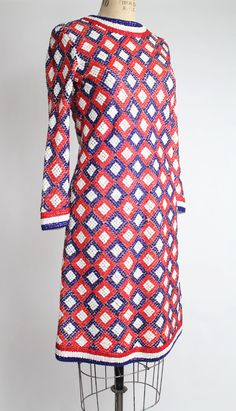 60s vintage LAURA APONTE mod sequin shift dress // vintage 1960s Italian geometric mini dress