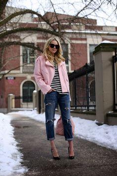 Constant Style - #stripes #motojacket #petitestyle