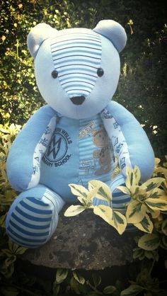 Memory bear for my boy from his old school shirts x