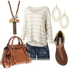 I love this necklace, the shoes, and the purse, and oh I just like it all.