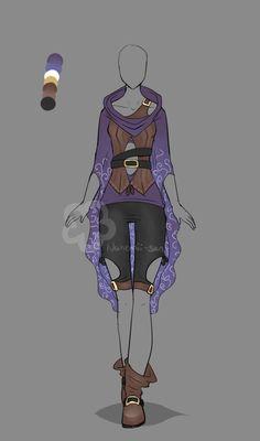 Fantasy Outfit #4 - Auction closed by Nahemii-san.devia... on @DeviantArt
