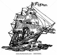 Atlantic boat - stock vector
