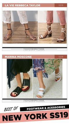#nyfw #2018 #ss19 #bestof #womens #footwear #shoes #handbags #trends #fashion #accessories #fashiondirections #rebeccataylor #marinamoscone Nyfw 2018, Footwear Shoes, Prabal Gurung, Ulla Johnson, Rebecca Taylor, Diane Von Furstenberg, Designer Shoes, Fashion Accessories, Fashion Design