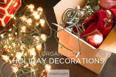 "It may seem early, but now is the time to inventory and organize your holiday decor.  It will allow you to throw out what you no longer use (a space saver), organize what you will use so that it's easily accessible come time to deck the halls, and make a shopping list for things you need to make your home sparkle with holiday cheer…before ""the good stuff"" is gone! Here's a game plan for getting your holiday decor act together. #Christmas #organization #momlife"