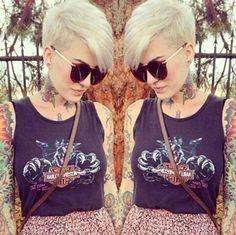Trendy Short Haircuts For Summer 2017 - Styles Art Blonde Pixie Cuts, Short Hair Cuts, Short Hair Styles, Trendy 2015, Cool Haircuts, Cool Hairstyles, Hairstyle Ideas, Hair Inspo, Hair Inspiration