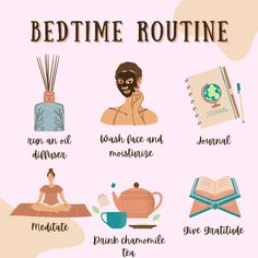 How To Sleep Faster, Sleep Better, Relaxing Oils, Self Care Bullet Journal, Night Time Routine, Evening Routine, Positive Self Affirmations, Self Care Activities, Healthy Sleep