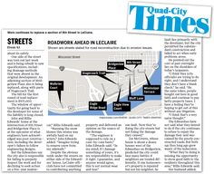Maps4News in The Quad-City Times, USA