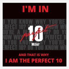 I'm In!  The Perfect 10 Miler  #IAmThePerfect10 www.cgiracing.com/perfect10miler