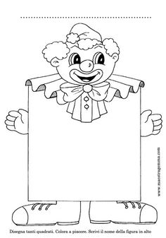 Preschool Clown Coloring Pages - Preschool Activity Activities - Ma . Clown Crafts, Carnival Crafts, Carnival Themes, Circus Theme, Theme Carnaval, Outline Pictures, Baby Footprints, Halloween Art, Digital Stamps