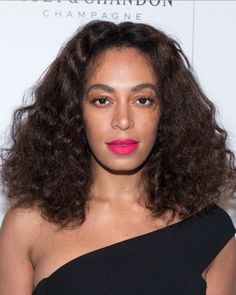 We're loving Solange Knowles' curls for a holiday hairstyle.  Have naturally wavy or curly tresses? This one's for you. Simply brush through your hair to get on-trend fluffy curls, and head to your party.