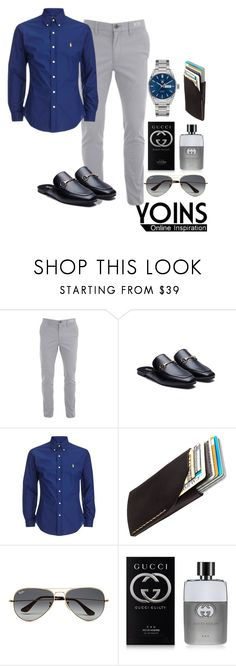 """""""Yoins"""" by devin-10 on Polyvore featuring Bison, Ray-Ban, Gucci, TAG Heuer, men's fashion and menswear"""