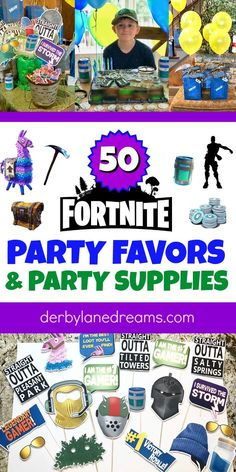 The BEST Fortnite party favors and Party Supplies! Kids will go crazy for these party favor ideas fo Birthday Party Games For Kids, Kid Party Favors, Mom Birthday Gift, Diy Party, Birthday Party Themes, Birthday Ideas, Party Ideas, Game Party, Birthday Recipes