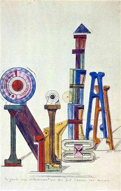 La Grande Roue Orthochromatique ..., 1919. Dadaísmo - Max Ernst