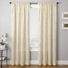 Mandow Embroidered Waves Curtain Panel