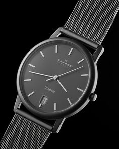 A shot of a Skagen watch I took for a G+ hangout assignment a couple weeks ago.